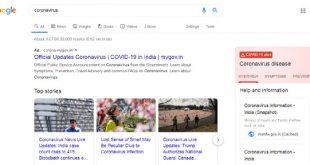 Google Search Corona Virus
